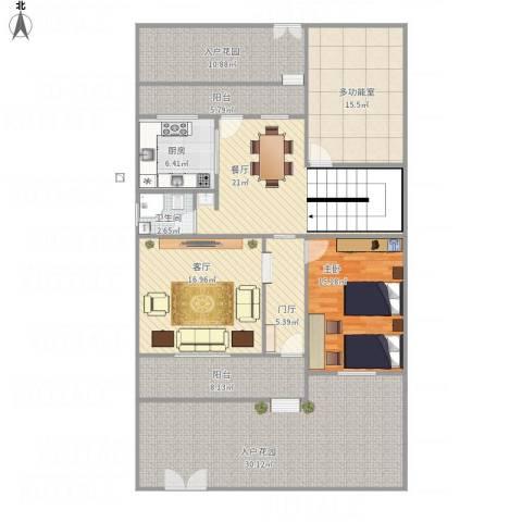 后湖小区1室2厅1卫1厨185.00㎡户型图