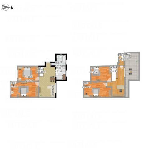 南湖家园4室1厅1卫1厨216.00㎡户型图