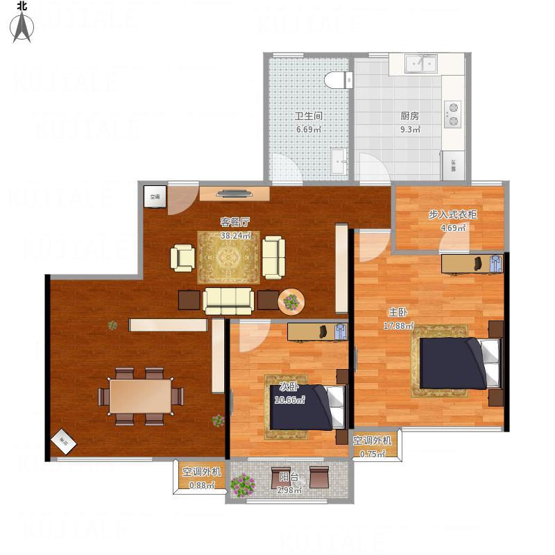B2杭州_海大师白金112平两房两厅一卫