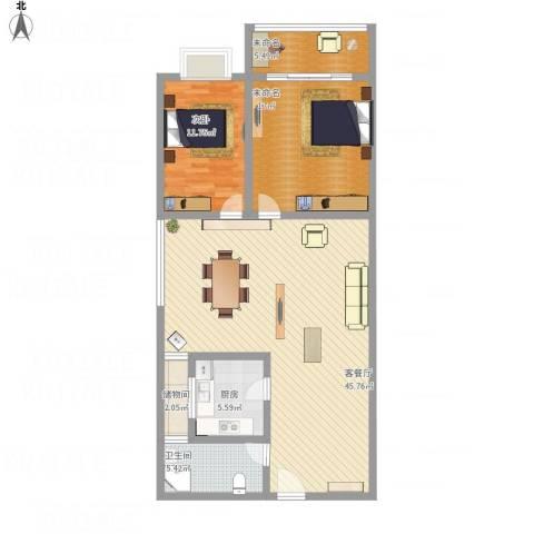 驻马店金盾花园小区1室1厅1卫1厨132.00㎡户型图