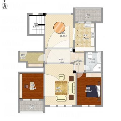 维科太子湾2室2厅1卫1厨183.00㎡户型图