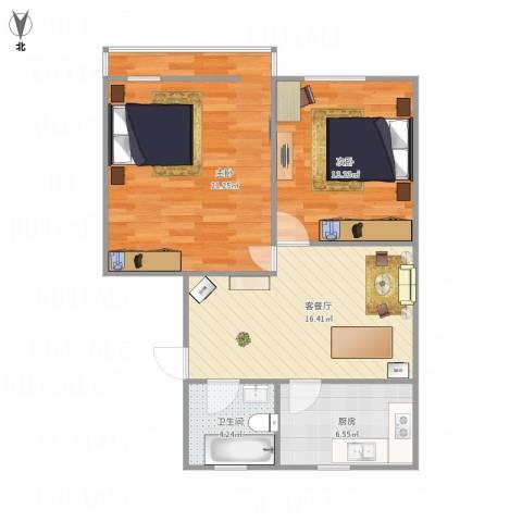 十五家园2室1厅1卫1厨83.00㎡户型图