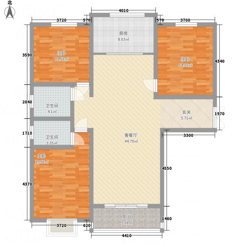 英尧・未来城1151.72㎡F1户型3室2厅2卫2厨