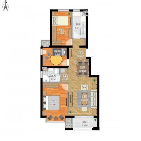 北京城建·海梓府3室1厅1卫1厨104.00㎡户型图