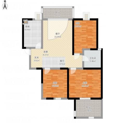 华辰丽景3室1厅1卫1厨146.00㎡户型图