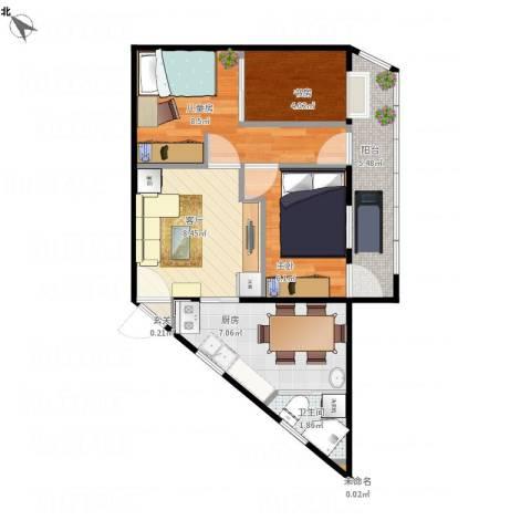 南新园3室1厅1卫1厨59.00㎡户型图