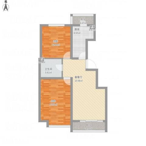 万通时代广场2室1厅1卫1厨103.00㎡户型图