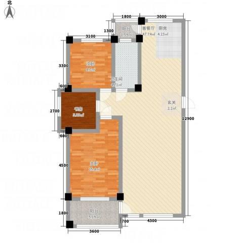 昌盛经典二期御花苑3室1厅1卫0厨128.00㎡户型图