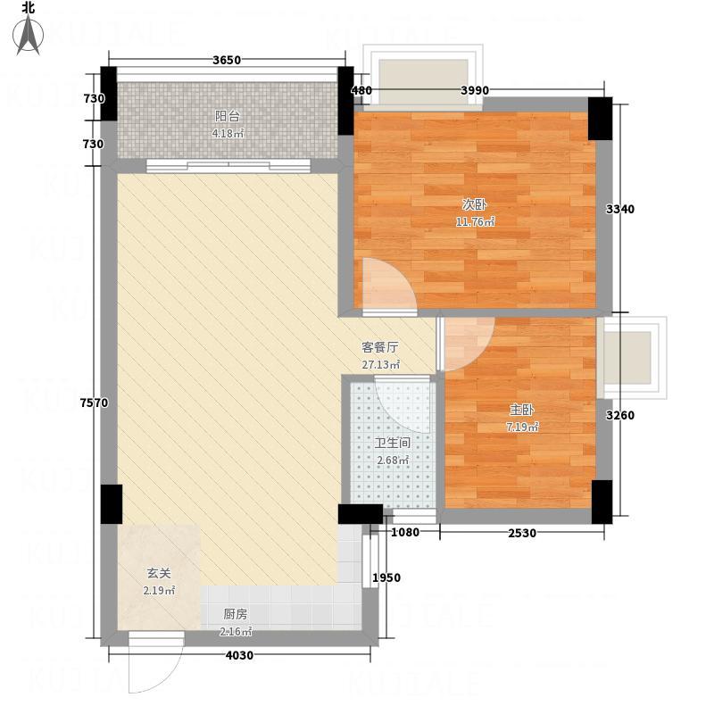 林峰雅居76.00㎡户型3室