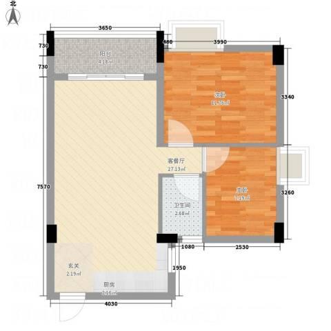 林峰雅居2室1厅1卫0厨76.00㎡户型图