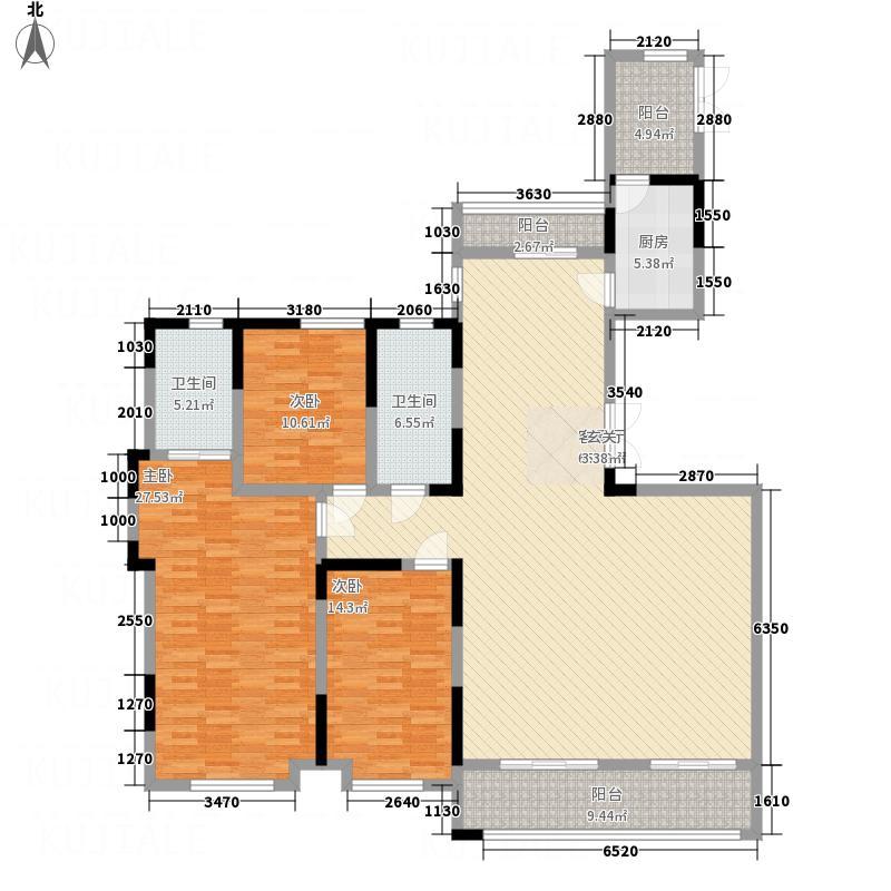 绿地九里223.00㎡F1户型5室2厅2卫1厨