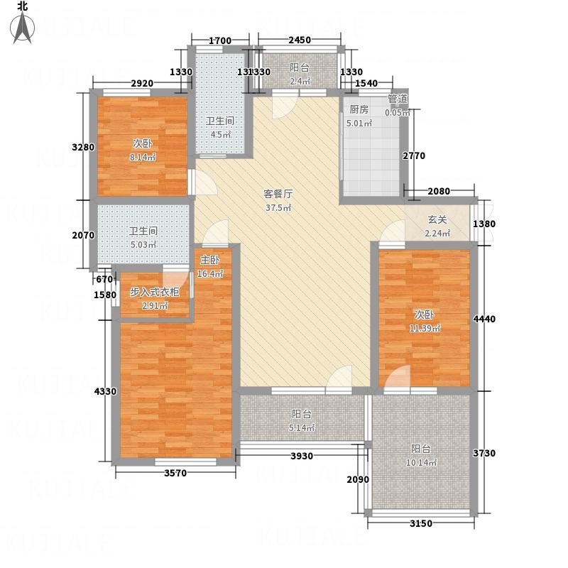 海马公馆156.00㎡B1二层--户型3室2厅2卫1厨
