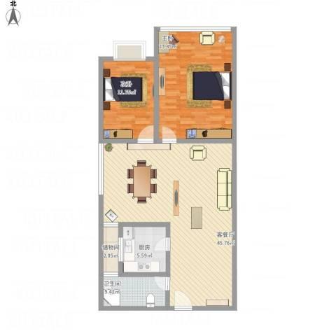 驻马店金盾花园小区2室1厅1卫1厨132.00㎡户型图