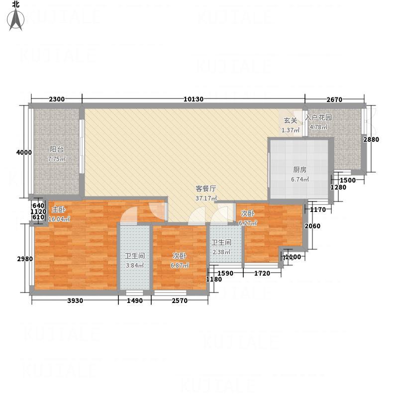 亿和城市广场11.12㎡一餐厅一阳台户型3室2厅2卫1厨