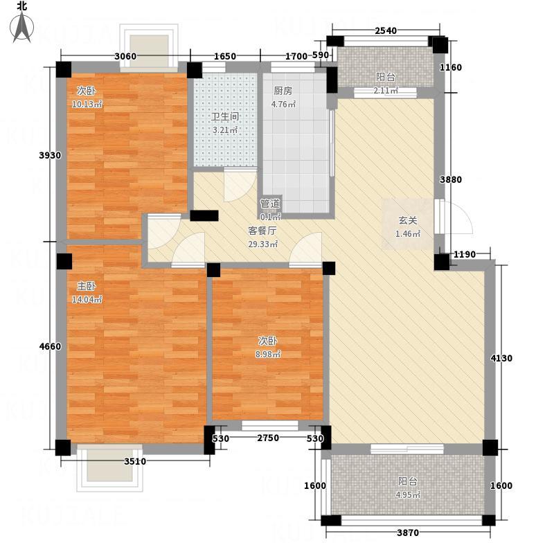 大华南湖公园世家户型3室