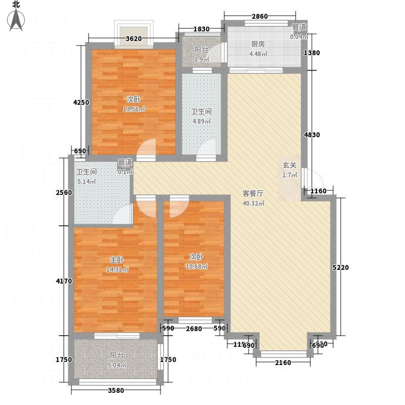 金鑫・锦绣花城D户型3室2厅2卫1厨