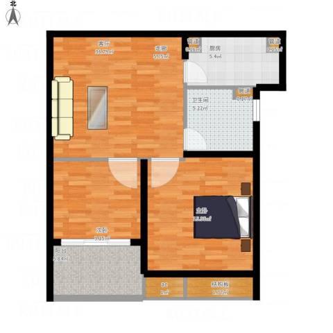 中信泰富又一城1室1厅1卫1厨94.00㎡户型图