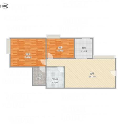 世邦一水岸1单元27032室1厅1卫1厨96.00㎡户型图
