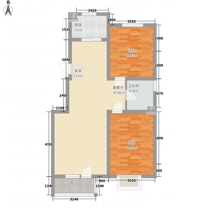 典逸心洲E户型3室1厅1卫