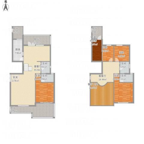 新景缘5室2厅4卫1厨292.00㎡户型图