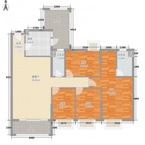平冈新城4室1厅2卫1厨162.00㎡户型图