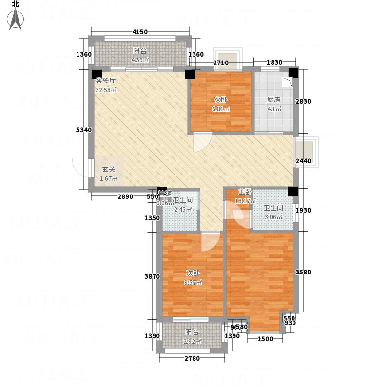 麒麟山庄113.00㎡A(2011-12-27户型