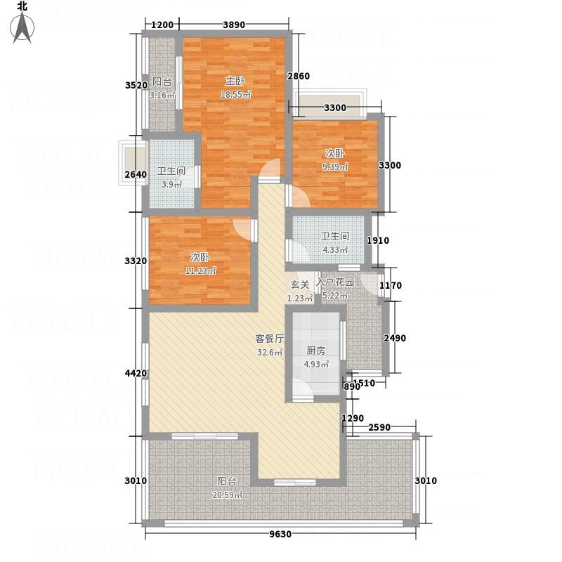 融豪・翡翠城128.00㎡C2F双卫户型3室2厅2卫1厨