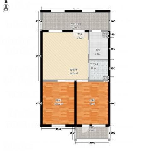 亲和源温泉养老产业园2室1厅1卫1厨115.00㎡户型图