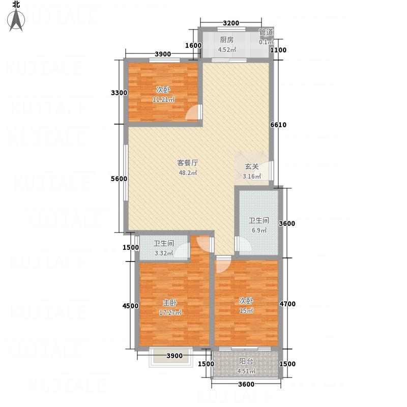 �秀城14.00㎡G户型3室2厅2卫1厨
