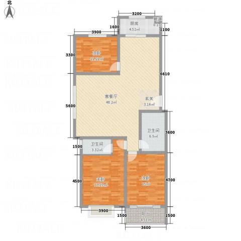 �秀城3室1厅2卫1厨111.01㎡户型图