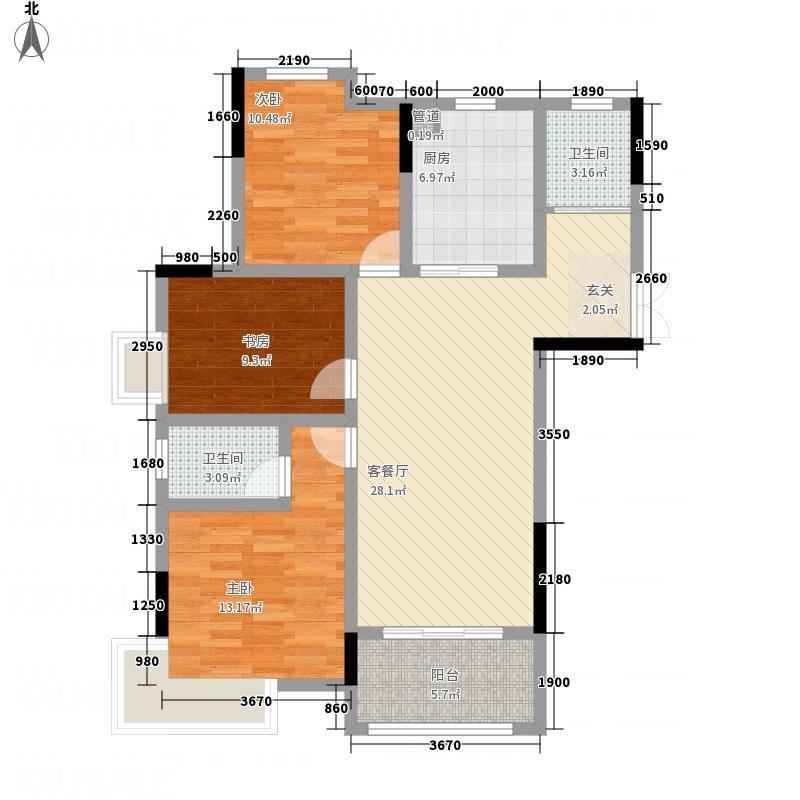 地矿・龙山湖苑116.42㎡New0039jpg户型3室2厅2卫1厨