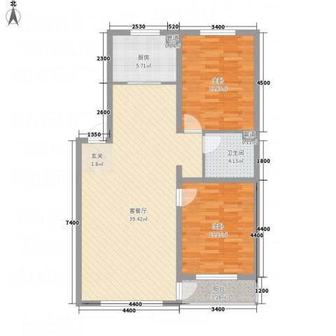 佰仕・印象2室1厅1卫1厨112.00㎡户型图