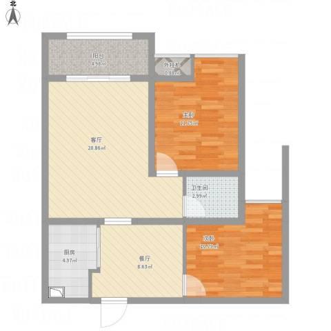 香巴圣地2室2厅2卫1厨94.00㎡户型图