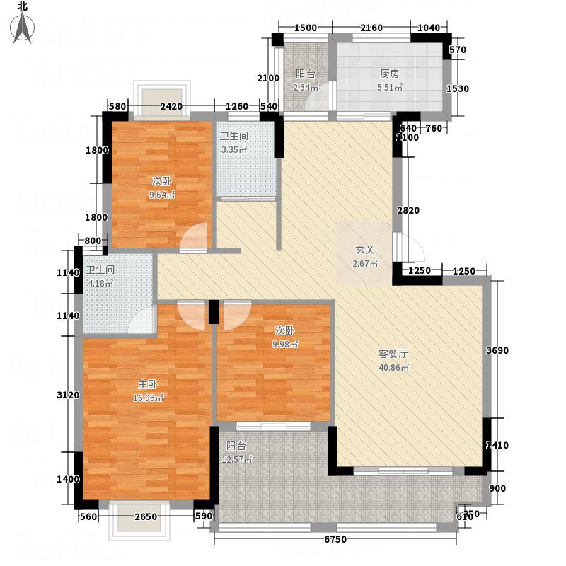 新商城・北欧春天313.20㎡B户型3室2厅2卫