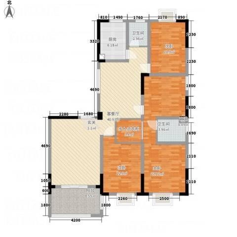 世纪锦绣3室1厅2卫1厨169.00㎡户型图