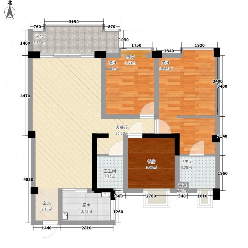 桂鑫园114.55㎡G1-2户型3室2厅2卫1厨