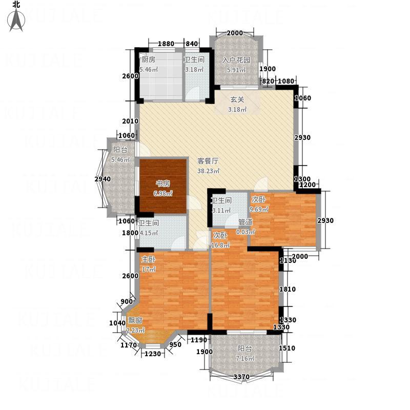 世全・兴安名城34145.20㎡3#4#06单元4室户型4室2厅2卫1厨