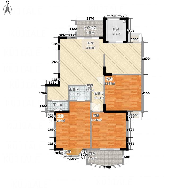 世全・兴安名城3414.20㎡3#4#02/03/04/05单元3室户型3室2厅2卫1厨