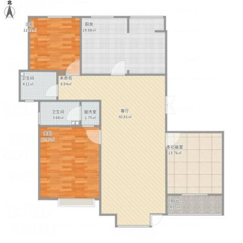 恒盛尚海湾滨海2室2厅3卫1厨167.00㎡户型图