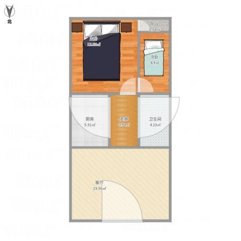 德裕家园东区4-2-9022室1厅1卫1厨71.00㎡户型图