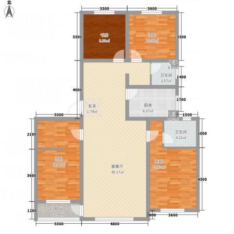 佰仕・印象4室1厅2卫1厨161.00㎡户型图
