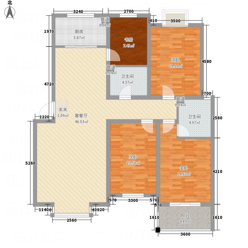 金鑫・锦绣花城D4户型4室2厅2卫1厨