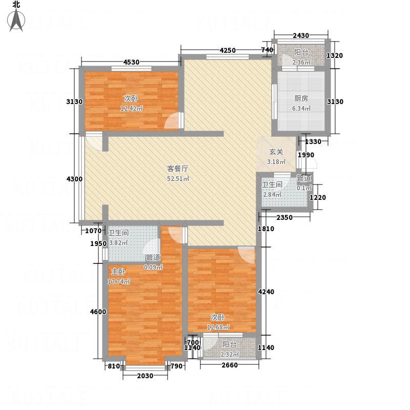 亿鸿・国际花园161.20㎡户型3室2厅2卫1厨