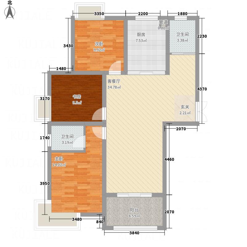 地矿・龙山湖苑126.72㎡New0036jpg户型3室2厅2卫1厨