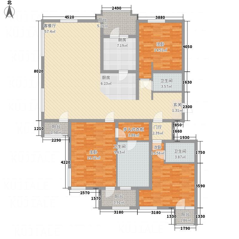 金泰城二期二期标准层C-2户型