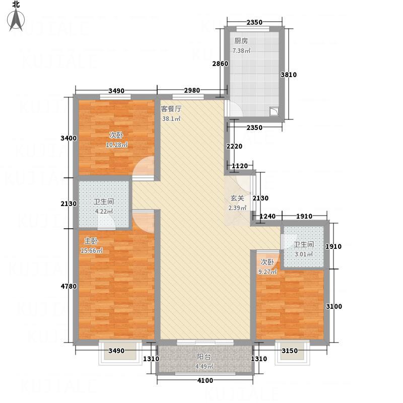 富尔沃・财富广场131.80㎡5#E反户型3室2厅2卫1厨