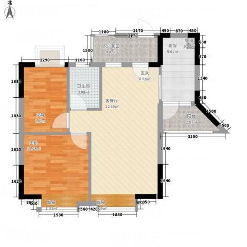 星宝明珠二期2室1厅1卫1厨117.00㎡户型图