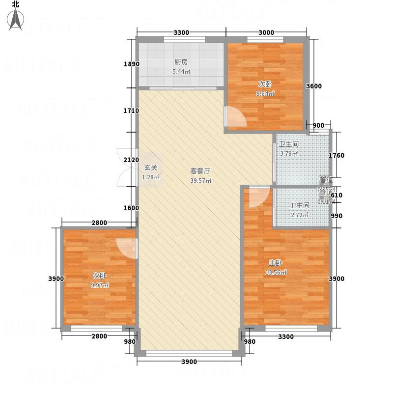 盛誉-云顶2112.88㎡户型2室2厅1卫1厨
