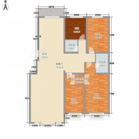 皇城东苑二期4室1厅2卫0厨206.00㎡户型图