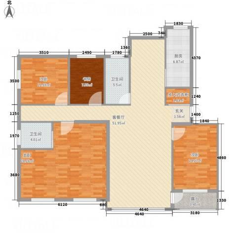 黄金水岸4室1厅2卫1厨186.00㎡户型图